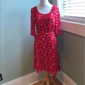 Boden red dress- beautiful! Barely worn.